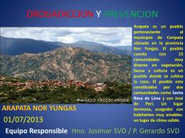 DROGADICCION - SVD Bolivia