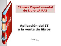 Exención - Cámara Departamental del Libro de La Paz