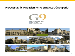 Bases de Financiamiento en Educación Superior