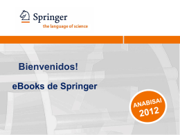 Springer Ebooks y sus tendencias. David Assor