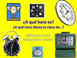 A qué hora es … la clase de… educación física(PE)?