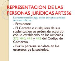 representacion de las personas jurídicas