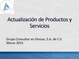 Actualización de Productos y Servicios