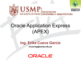 ¿Qué es Oracle Application Express?