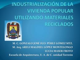 15. Industrialización de la vivienda popular utilizando