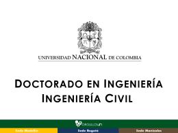 Se anexa presentación - Universidad Nacional de Colombia