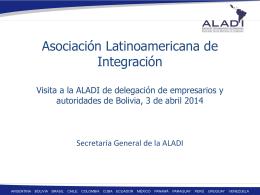 Introduccion a ALADI - Embajada de Bolivia en Uruguay