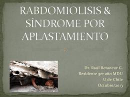 síndrome por aplastamiento & rabdomiolisis