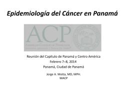 Tasa cruda mortalidad de tumores malignos en Panamá
