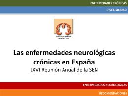 Las enfermedades neurológicas crónicas en España