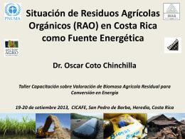 Estudio de Situación de Residuos Agrícolas Orgánicos (RAO) en