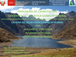 Presentación de PowerPoint - Autoridad Nacional del Agua
