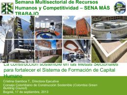 La construcción sostenible en las Mesas Sectoriales para