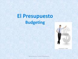 El presupuesto es