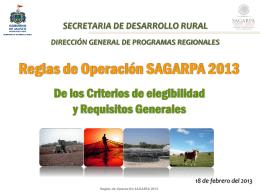 Reglas Sagarpa cuatro 2013