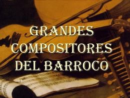 Músicos barrocos