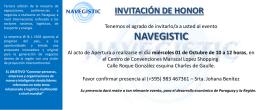 Invitacion - NAVEGISTIC
