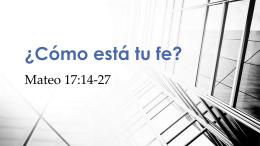 Mateo 17:20 - Familia Semilla