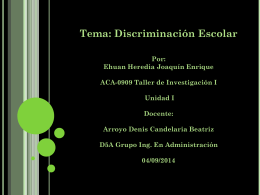 Cero tolerancia a la discriminación