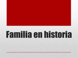 Familia en historia