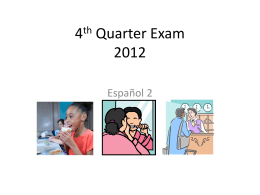 4th Quarter Exam 2012
