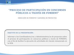 Proceso de participación en Concursos Públicos a través de FUNDEVI