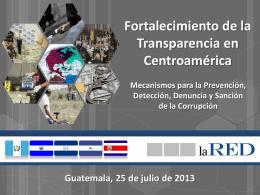 LaRED fortalecimiento de la transparencia en