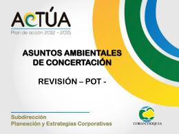 asuntos ambientales de concertación-revisión – pot