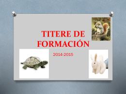 TITERE DE FORMACIÓN