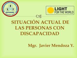 situacion de las personas con discapacidad y normativa legal