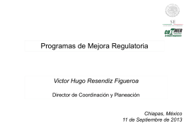Programa de Mejora Regulatoria Aytos Chiapas