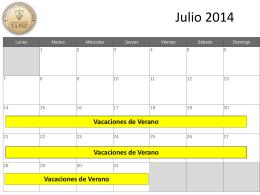 Calendario 2014-2