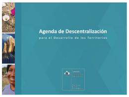 Agenda de Descentralización