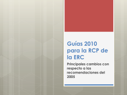 Guías 2010 para la RCP de la ERC