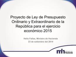 Presentación realizada por el señor Helio Fallas, primer