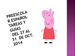 Preescolar Español Tareas y guías del 27 al 31 de