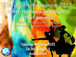 Dance Programme 2013