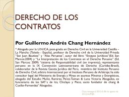 derecho de los contratos - Universidad Privada San Juan Bautista