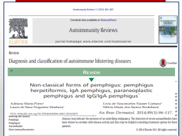 Diagnosis and classification of autoimmune blistering diseases