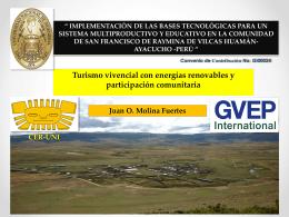 GVEP Turismo Vivencial, Juan Molina - CER-UNI