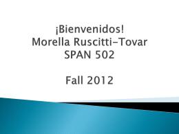SPAN 001 – Verbos en -ar - Penn State PHP Service