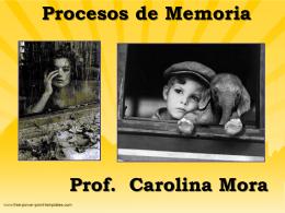 Procesos de Memoria (Sternberg 6)