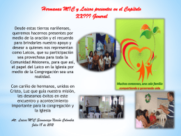 Presentación de PowerPoint - Misioneras de la Inmaculada
