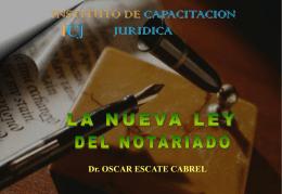 LEY_DEL_NOTARIADO_DR._OSCAR_ESCATE
