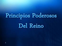 Principios Poderosos del Reino