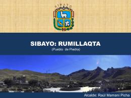 municipalidad distrital de tuti - Biocultural Diversity and Territories