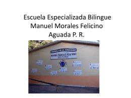 Escuela Especializada Bilingue Manuel Morales Felicino Aguada PR