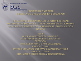 Universidad Virtual Escuela de Graduados en Educación Relación