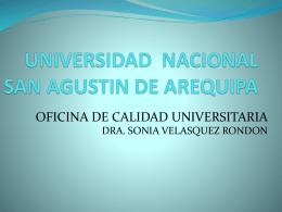 reunion 4 de mayo - Universidad Nacional de San Agustin