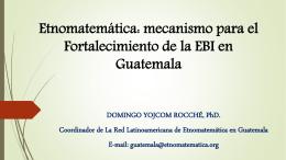 presentación de Domingo - Red Latinoamericana de Etnomatemática